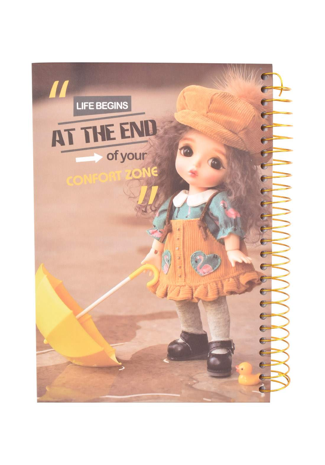 Arabic Spiral Copybook With A Drawing - Doll- 96 Sheets دفتر  96 ورقة