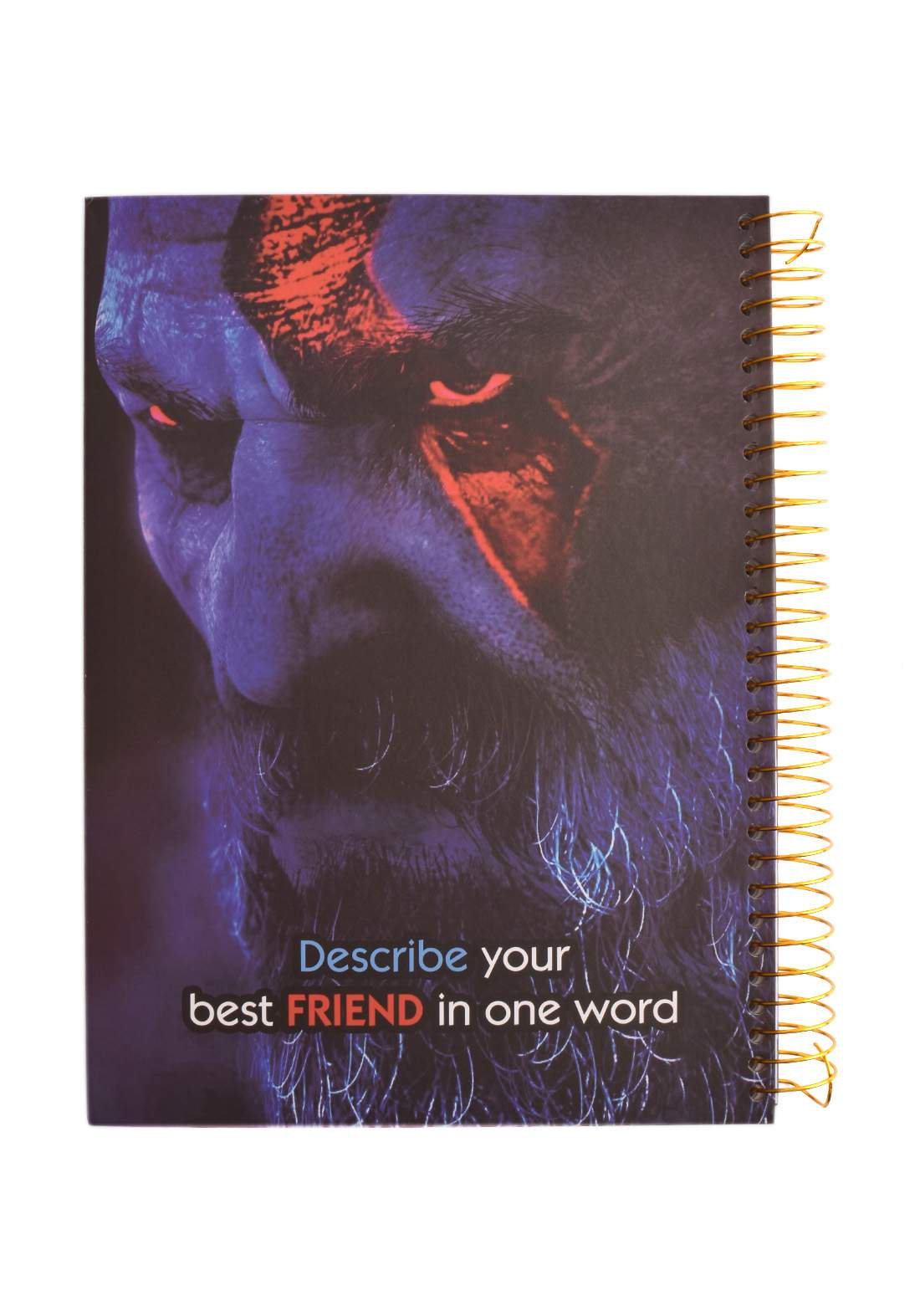Arabic Spiral Copybook With A Drawing - God Of War- 96 Sheets دفتر  96 ورقة