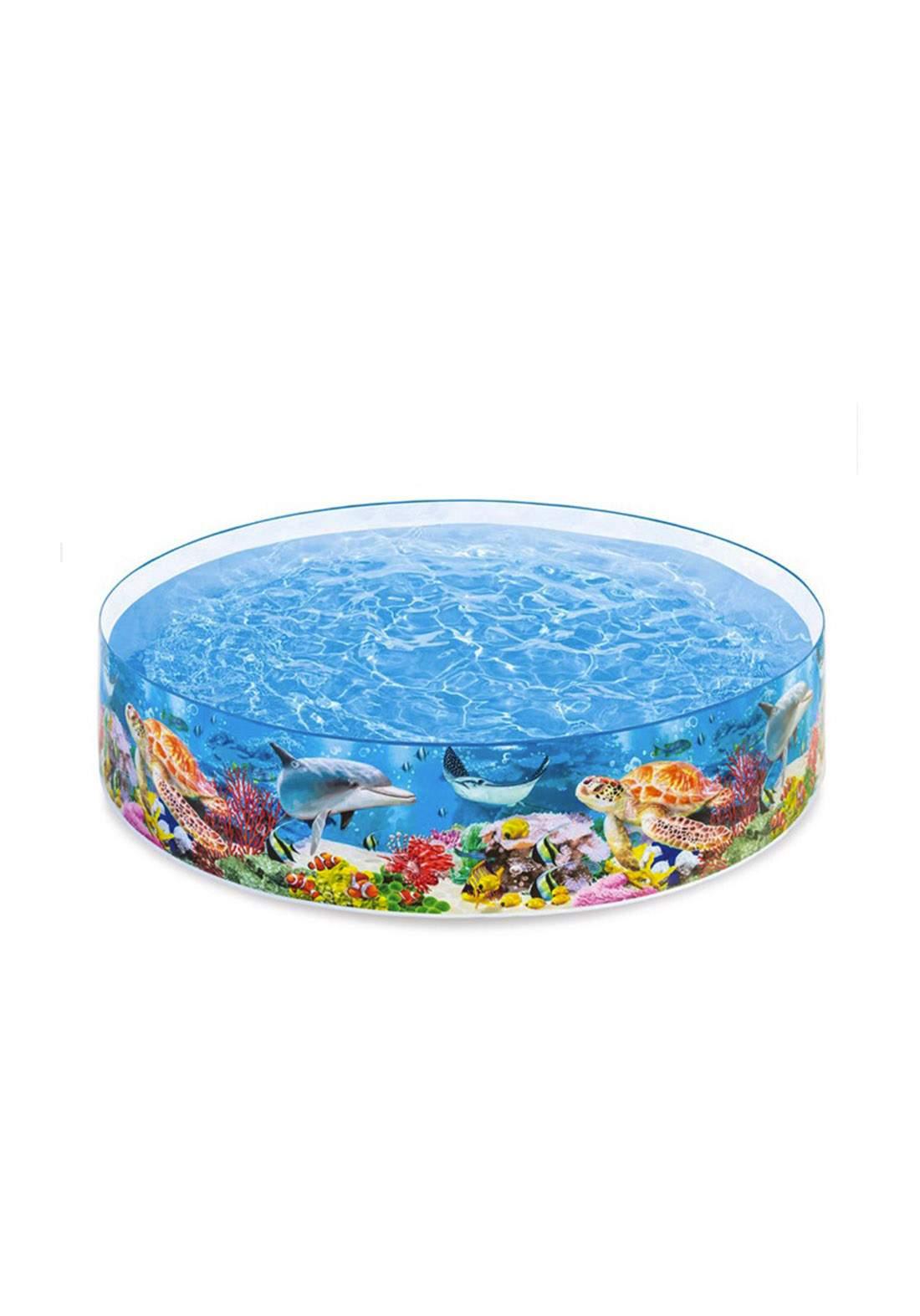 Intex 58472 Deep Blue Sea Snapset Pool مسبح