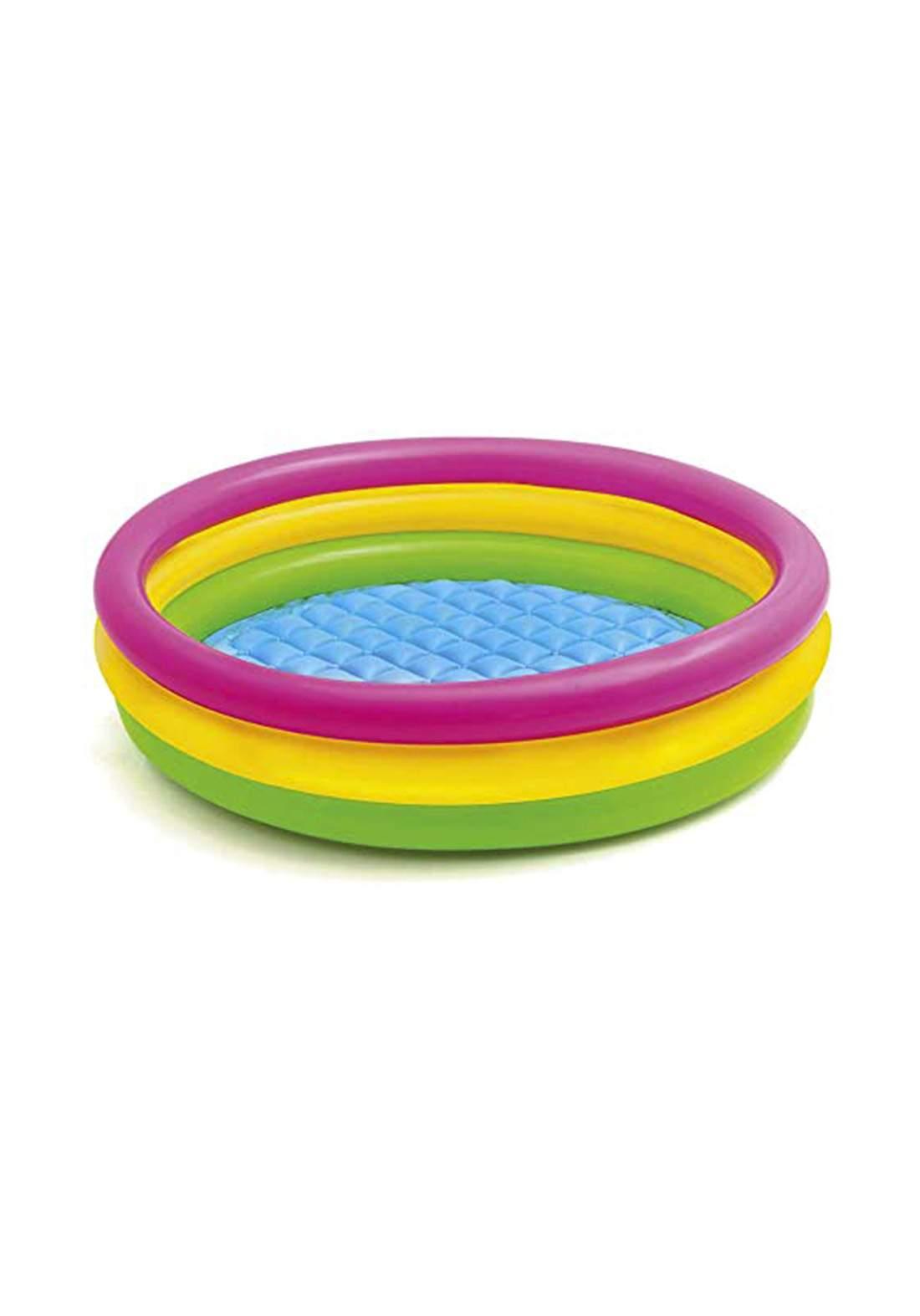 Intex 57412 Inflatable 3 Rings Kids Large Pvc Baby Play Swimming Pool مسبح