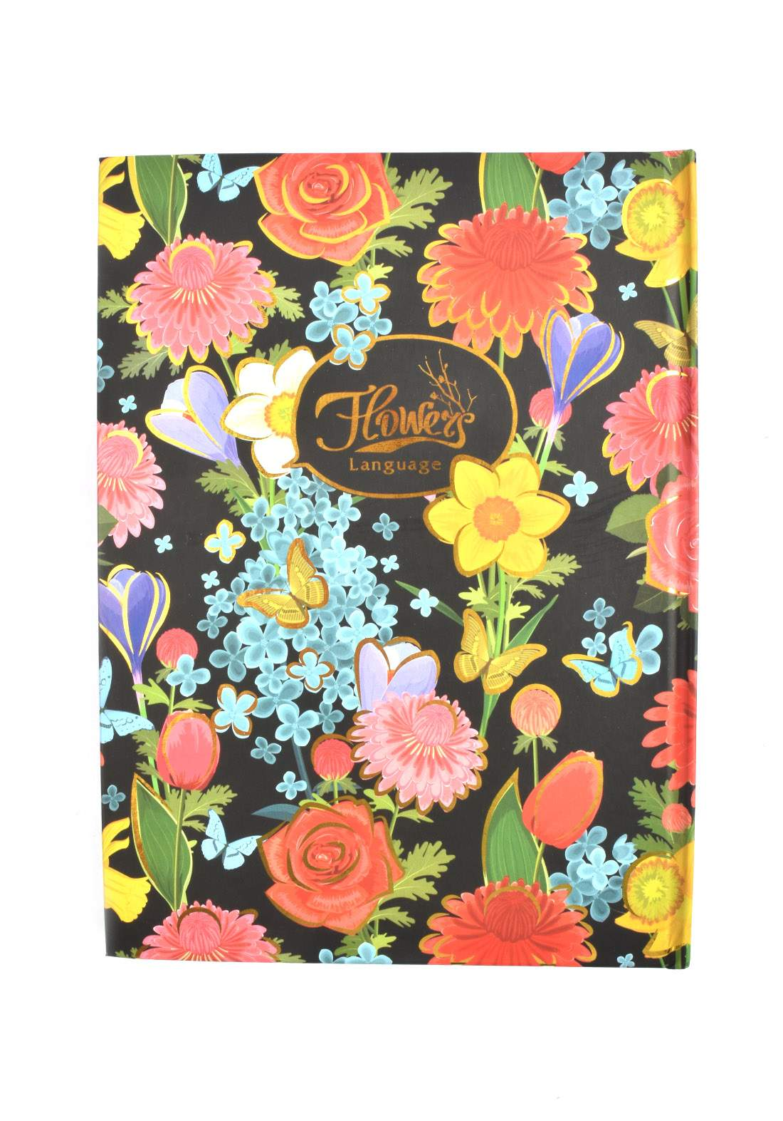 Arabic Cardboard Note Book With A Drawing -  Colored Flower  - 100 Sheets دفتر  100 ورقة