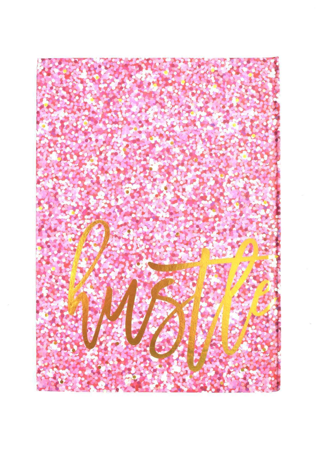 Arabic Cardboard Note Book With A Drawing -  Pink Glitter   - 100 Sheets دفتر  100 ورقة