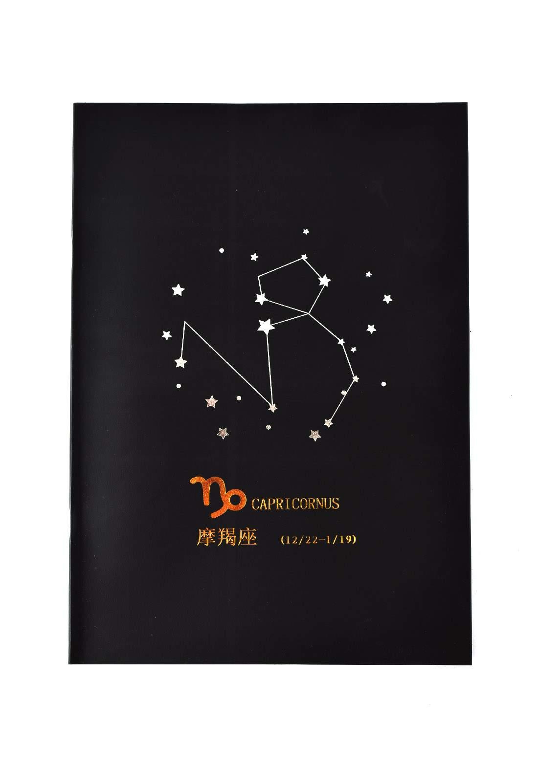 Big Black Drawing Book 24 Sheets-Capricornus دفتر رسم اسود كبير بطبعة برج الجدي