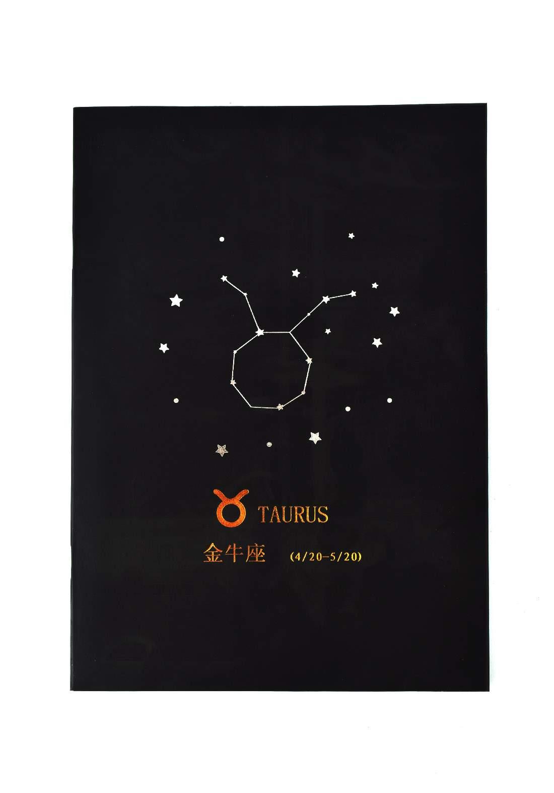 Big Black Drawing Book 24 Sheets-Taurus دفتر رسم اسود كبير بطبعة برج الثور