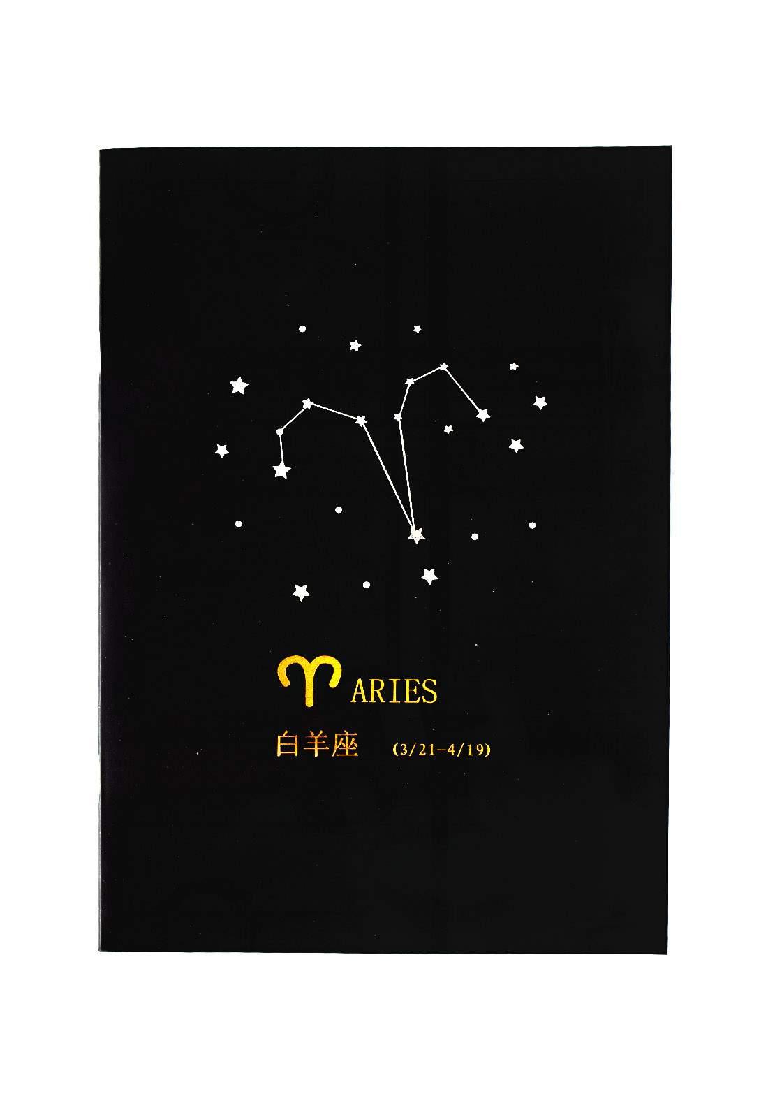Big Black Drawing Book 24 Sheets-Aries دفتر رسم اسود كبير بطبعة برج الحمل
