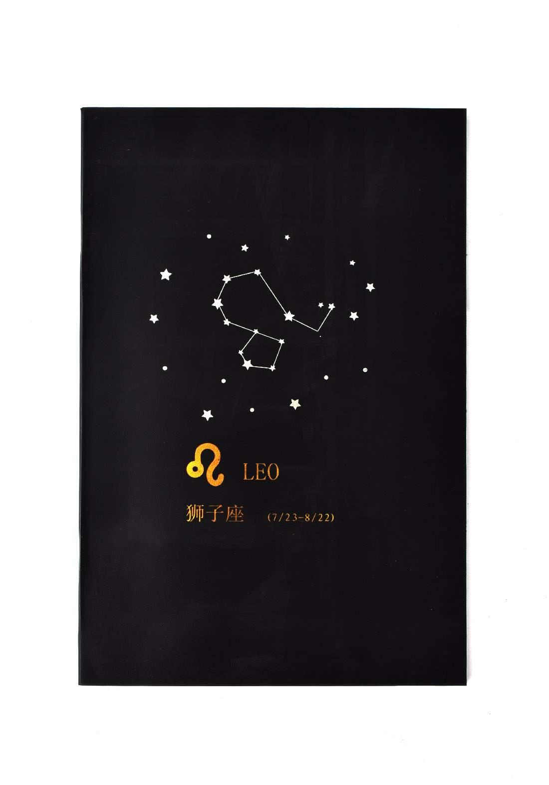 Small Black Drawing Book 24 Sheets-Leo دفتر رسم اسود صغير بطبعة برج الأسد