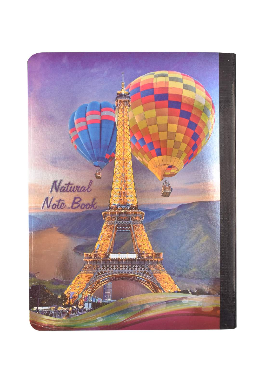 Arabic Cardboard Note Book With A Drawing -  Paris  - 96 Sheets دفتر  96 ورقة