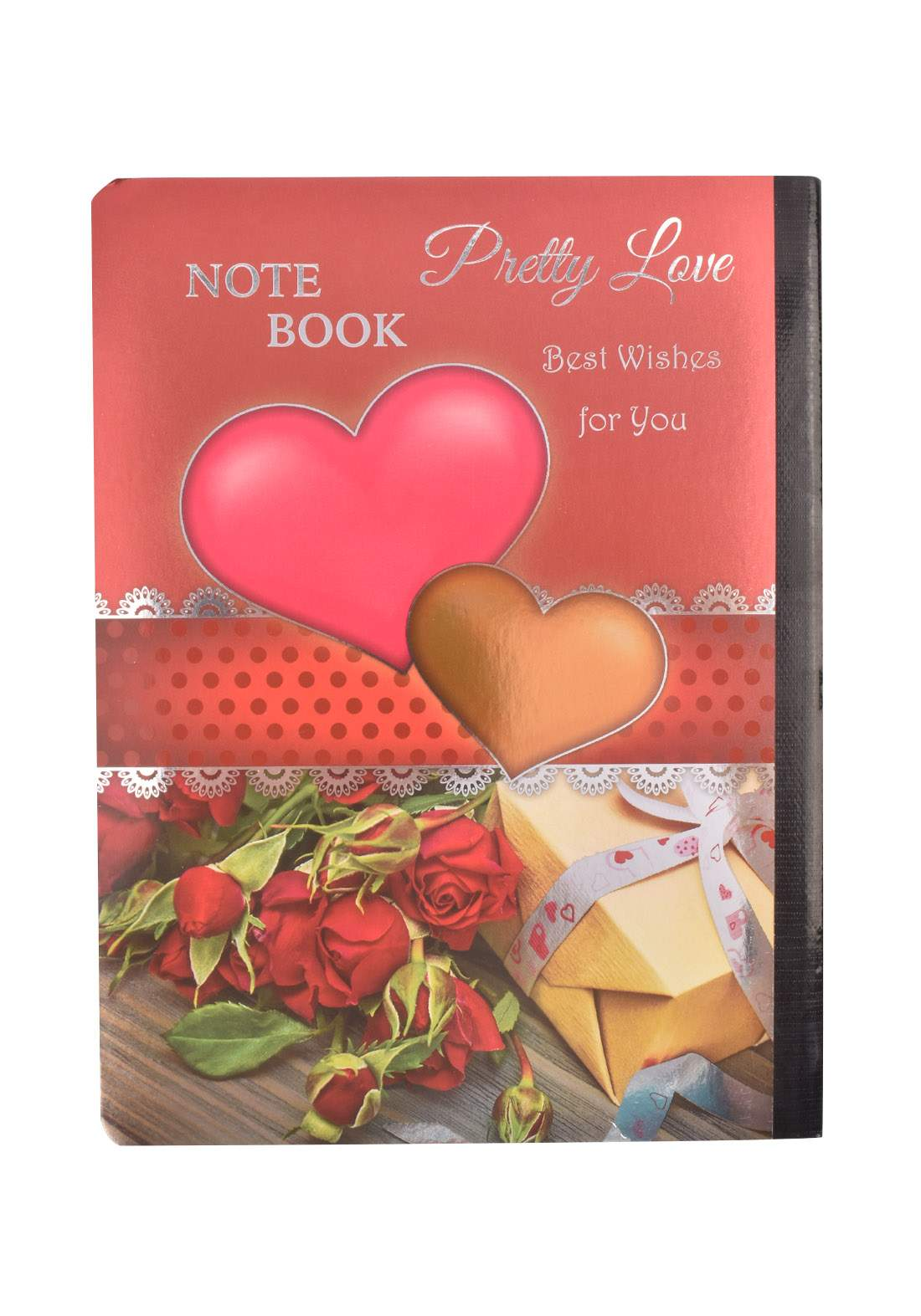 Arabic Cardboard Note Book With A Drawing -  Heart  - 96 Sheets دفتر  96 ورقة