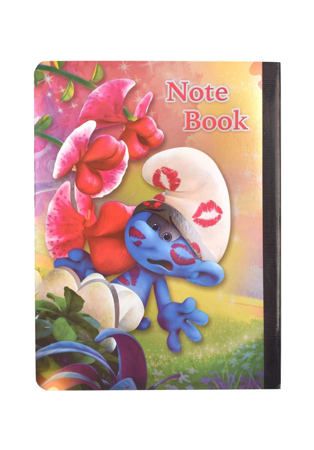 Arabic Cardboard Note Book With A Drawing -  Smurf  - 96 Sheets دفتر  96 ورقة