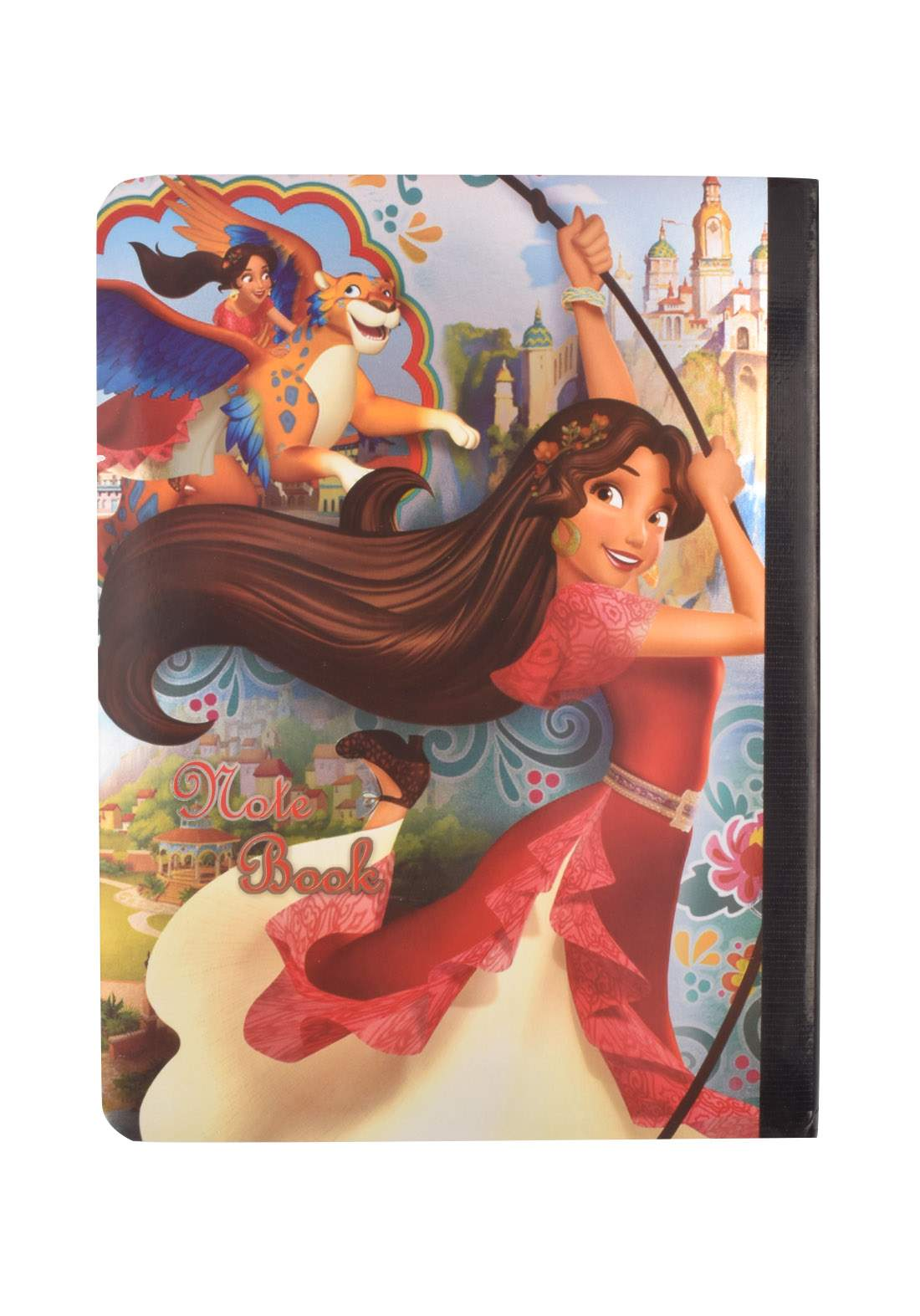 Arabic Cardboard Note Book With A Drawing -  Princess - 96 Sheets دفتر  96 ورقة