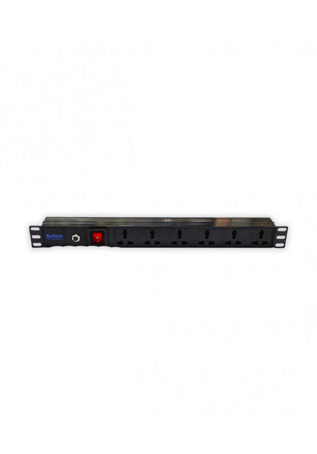 Blue storm PDU 7 port Power Distrbuter - Black