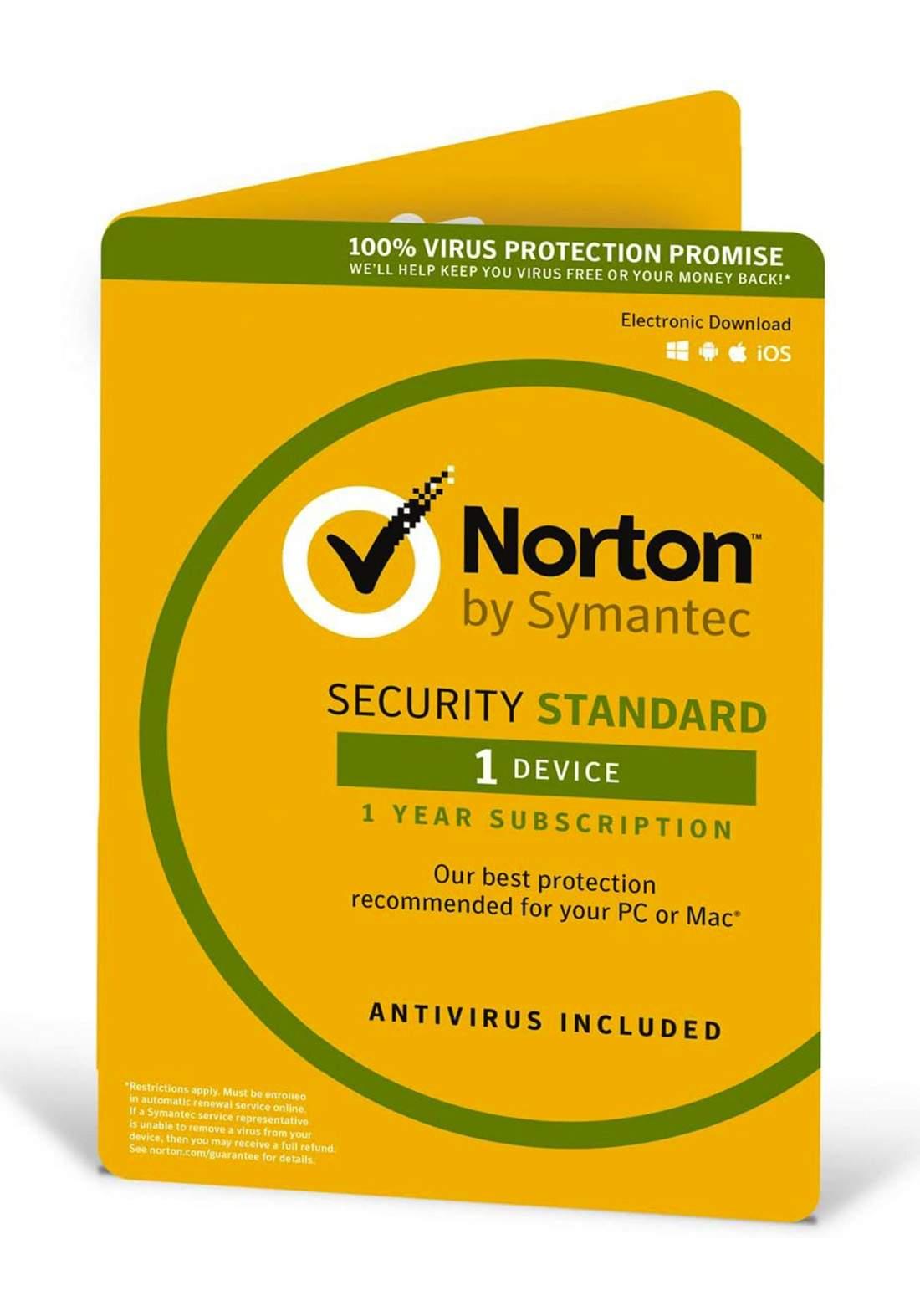 Norton Security 1 Device 1 Year Antivirus مضاد فايروسات