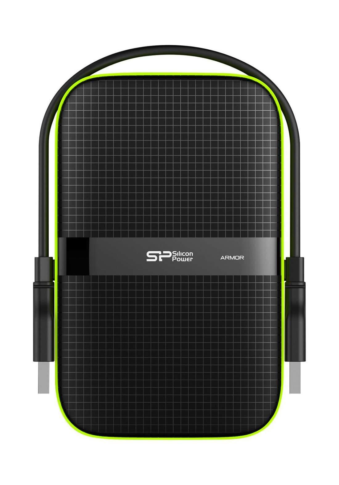 Silicon Power 2TB Portable External Hard Drive - Black هارد خارجي محمول