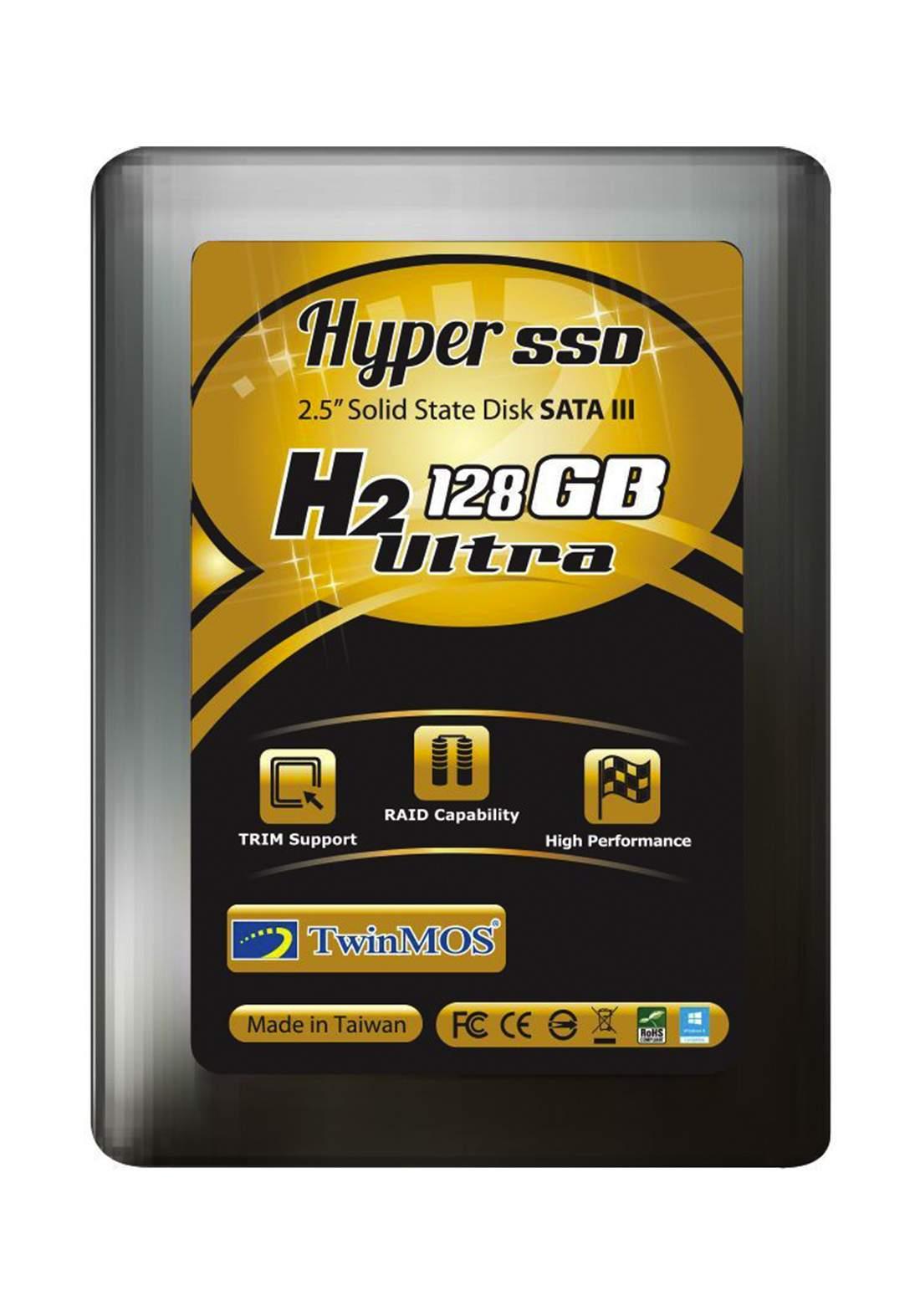 Twinmos H2 Ultra 128GB SATA III SSD - Black