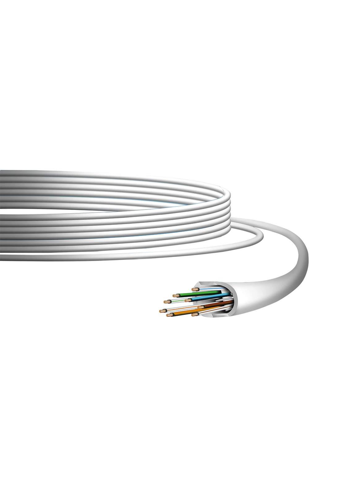 Ubiquiti Networks UniFi Cat 6 Indoor Ethernet Cable - White كابل
