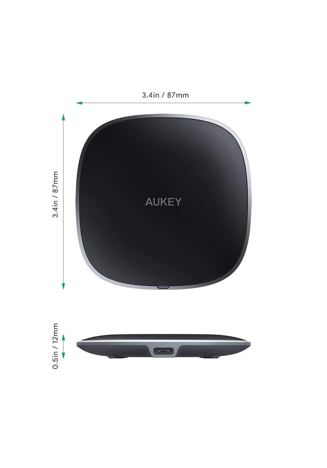 AUKEY LC-C6 Graphite Lite Q 10W Wireless Fast Charger  - Black  شاحن