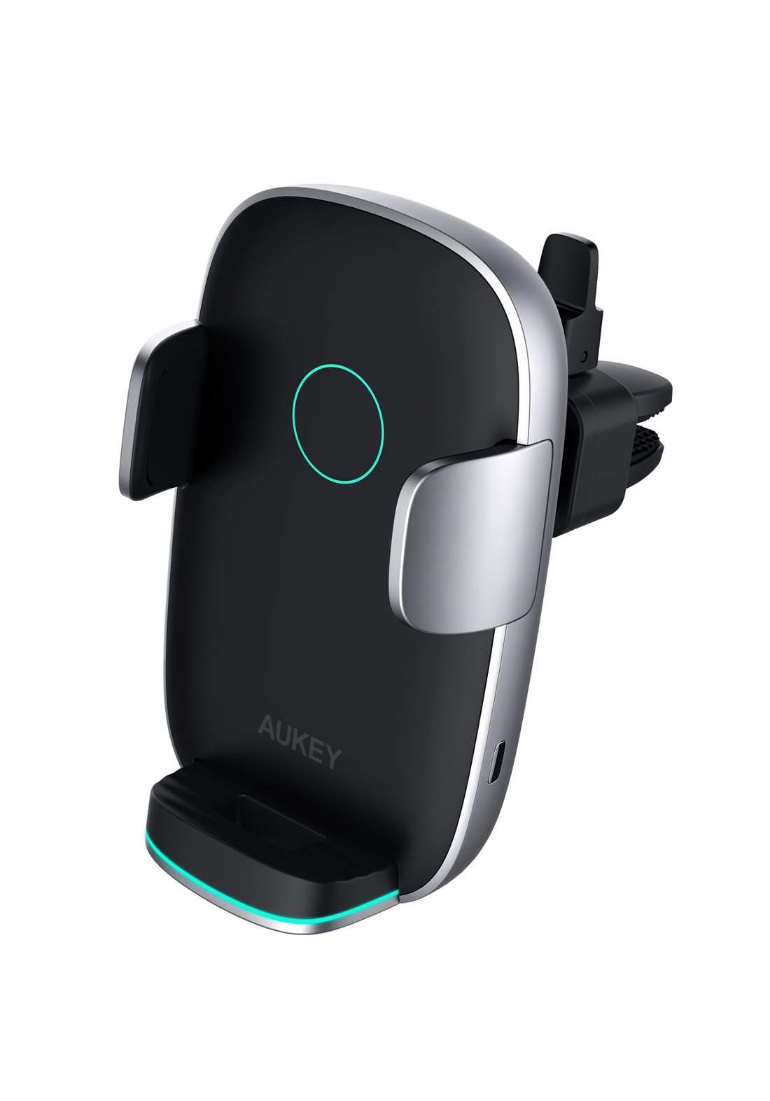 AUKEY HD-C52 Wireless Charging Phone Mount - BLACK  حامل وشاحن هاتف للسيارة