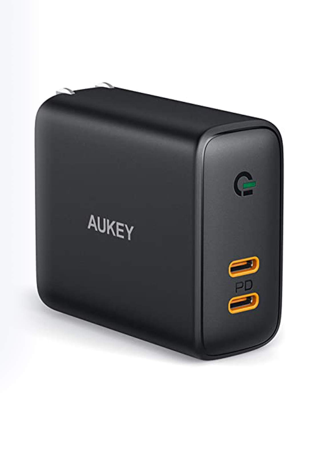 Aukey PA-D2 36W Power Delivery Dual-Port PD USB C Charger with Dynamic Detect   - Black شاحن