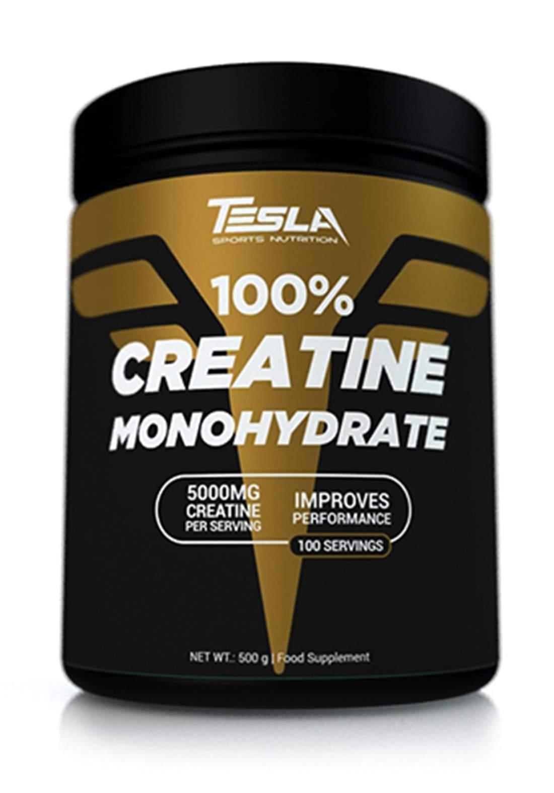 Tesla Sport Nutrition  100% Creatine Monohydrate Powder 100 Serving-5000 mg  مكمل غذائي