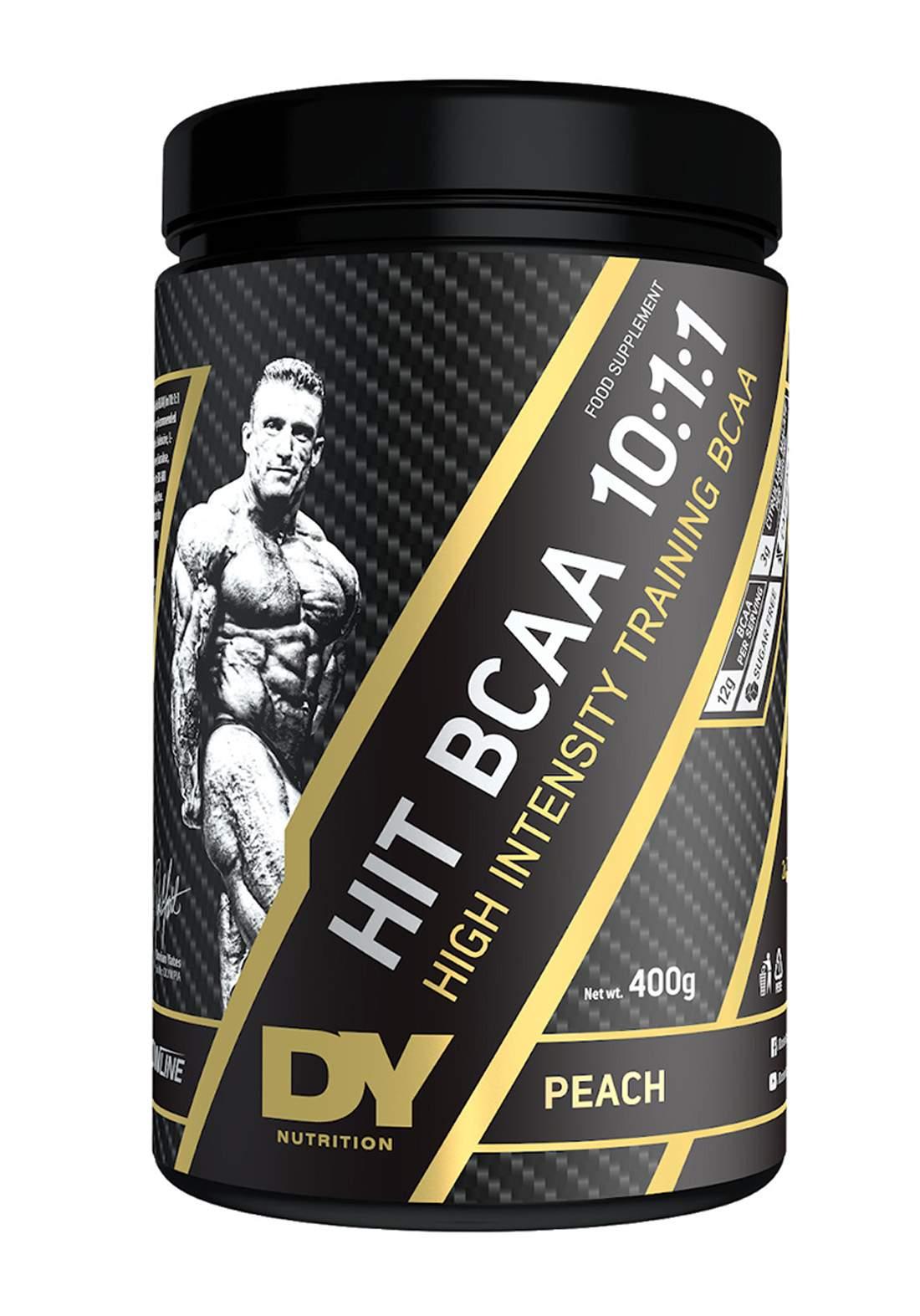 Dy Nutrition Hit Bcaa 10:1:1 Peach Flavor 400g مكمل غذائي بنكهة الخوخ