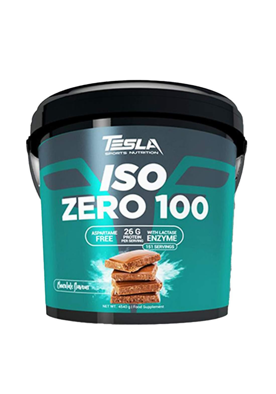 Tesla Iso Zero 100  Chocolate Flavor 4.5kg  مكمل غذائي بنكهة الشوكولاتة
