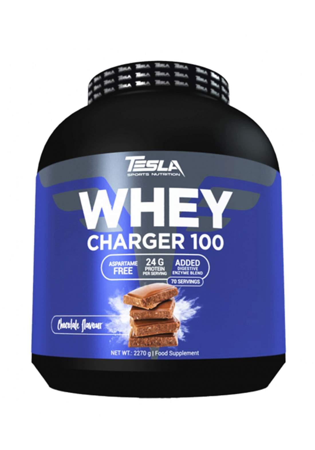 Tesla Whey Charger 100 Chocolate Flavor 2270g بروتين بنكهة الشوكولاتة