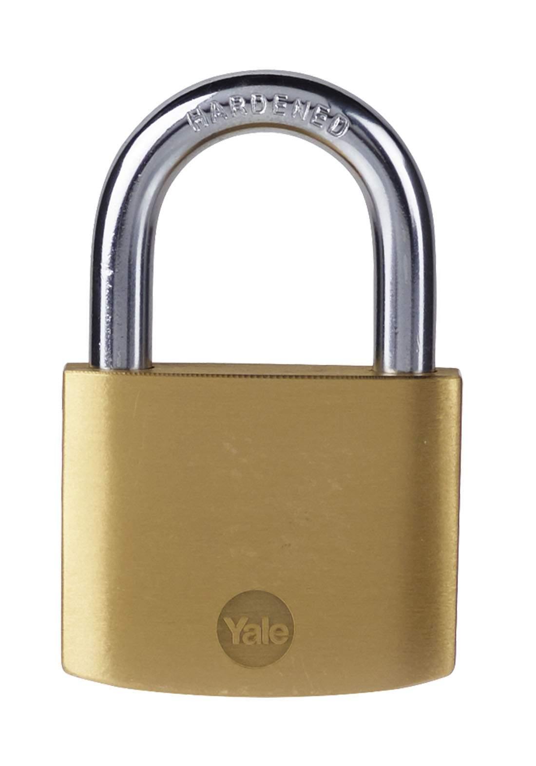 Yale Y110B/50/126/1 Padlock Brass 50 mm قفل للاغراض العامة