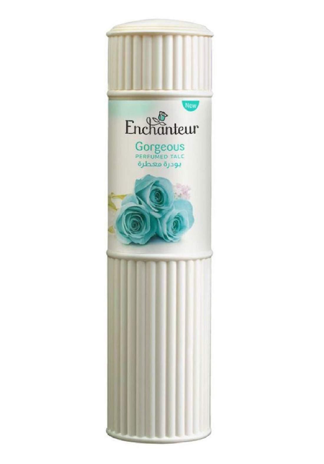 Enchanteur Gorgeous Perfumed Talc 250g بودرة للجسم