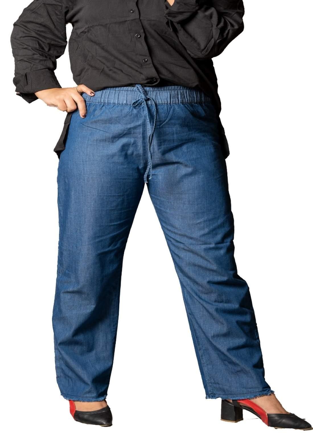 كيلوت جينز نسائي ازرق غامق اللون