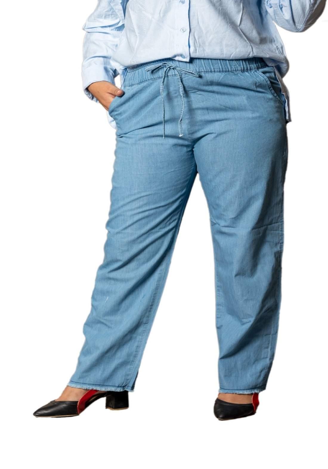 كيلوت جينز نسائي ازرق فاتح اللون