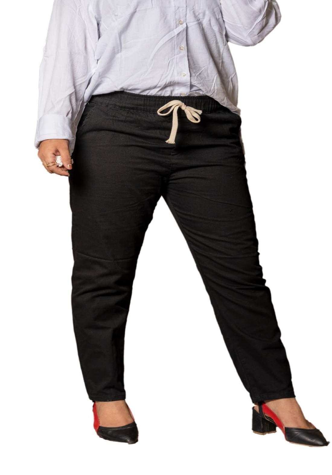 جينز نسائي اسود اللون