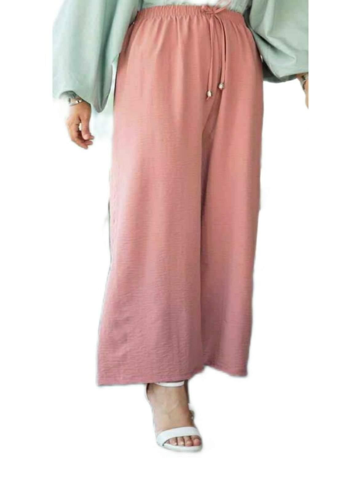 كيلوت قماش نسائي وردي اللون