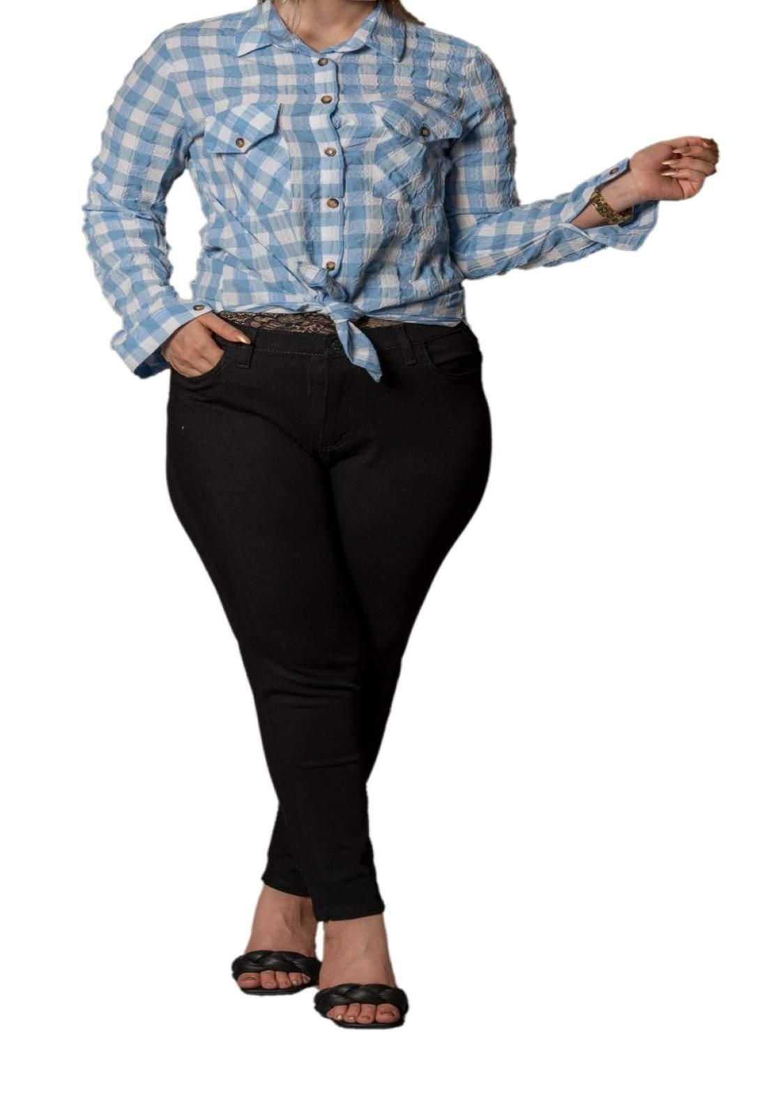 بنطلون جينز نسائي اسود اللون