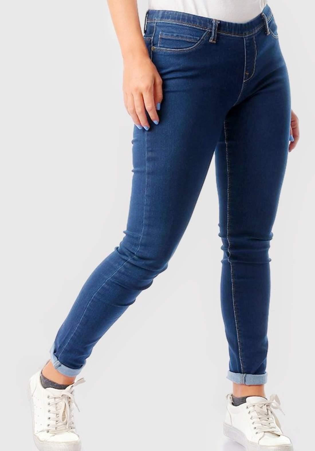 جينز نسائي ازرق غامق اللون