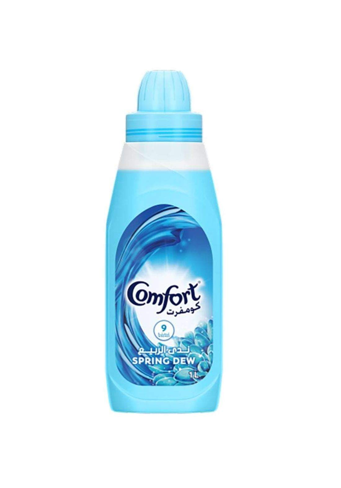 comfort fabric softener spring dew 1 L كومفورت منعم الملابس ندى الربيع  1 لتر