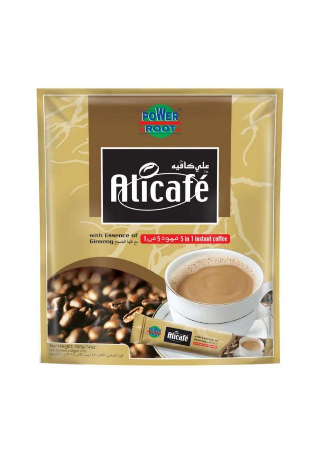 Alicafe 5in1 Instant coffee علي كافية قهوة سريعة التحضير 20 ظرف