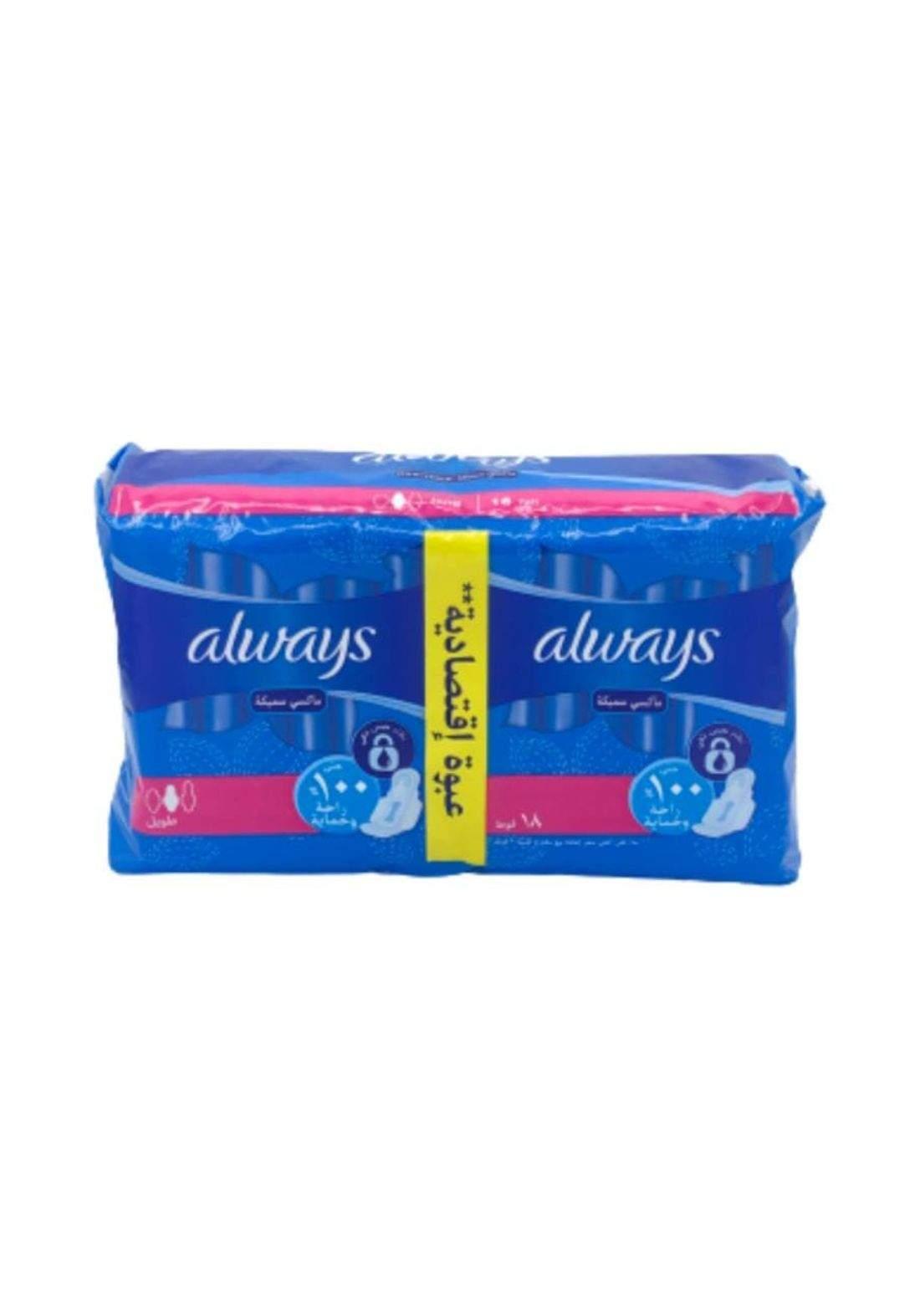 Always scented sanitary pads X18 فوطة نسائية