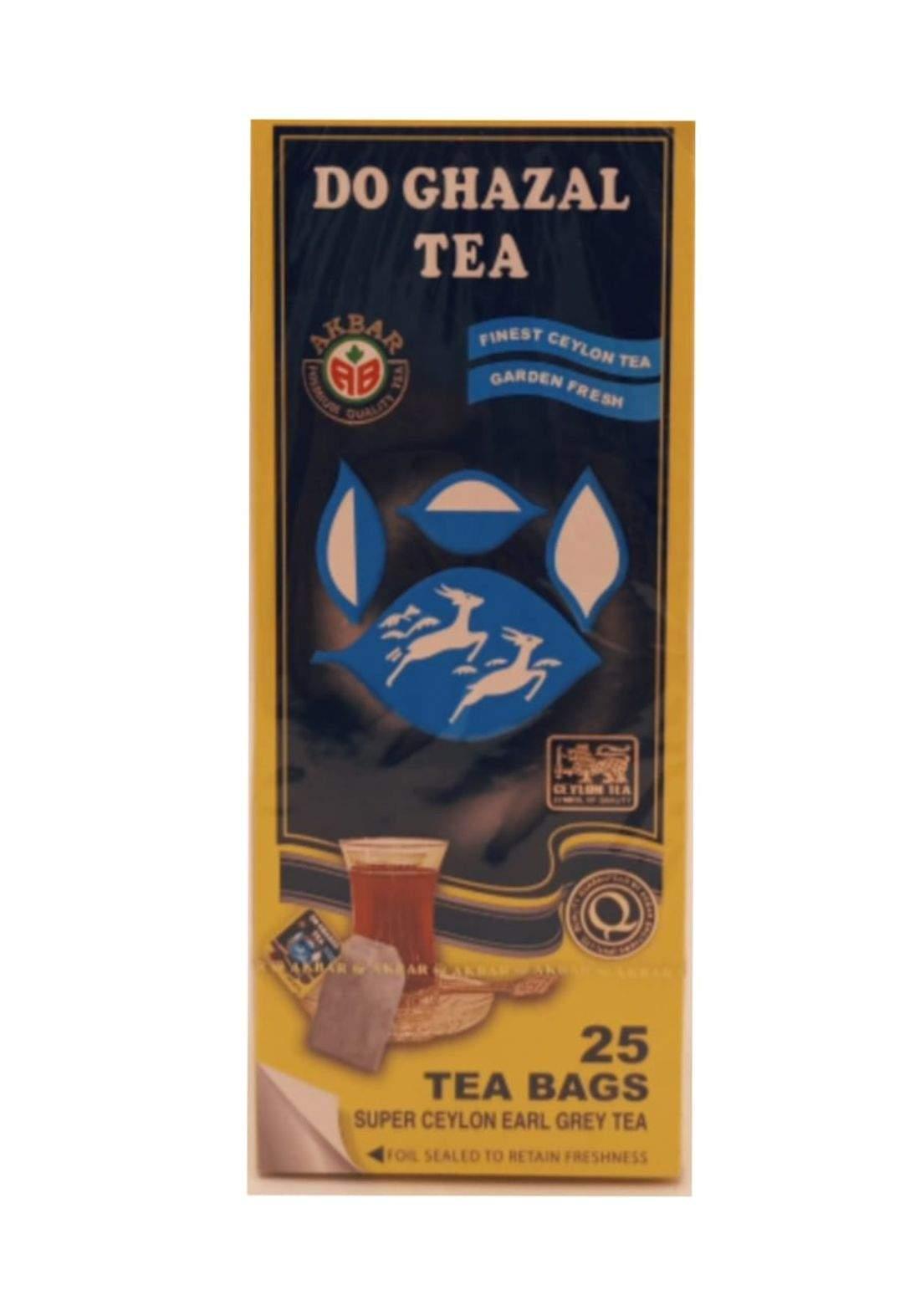 Do Ghazal Tea 25 tea bags شاي دو غزال 25 ظرف