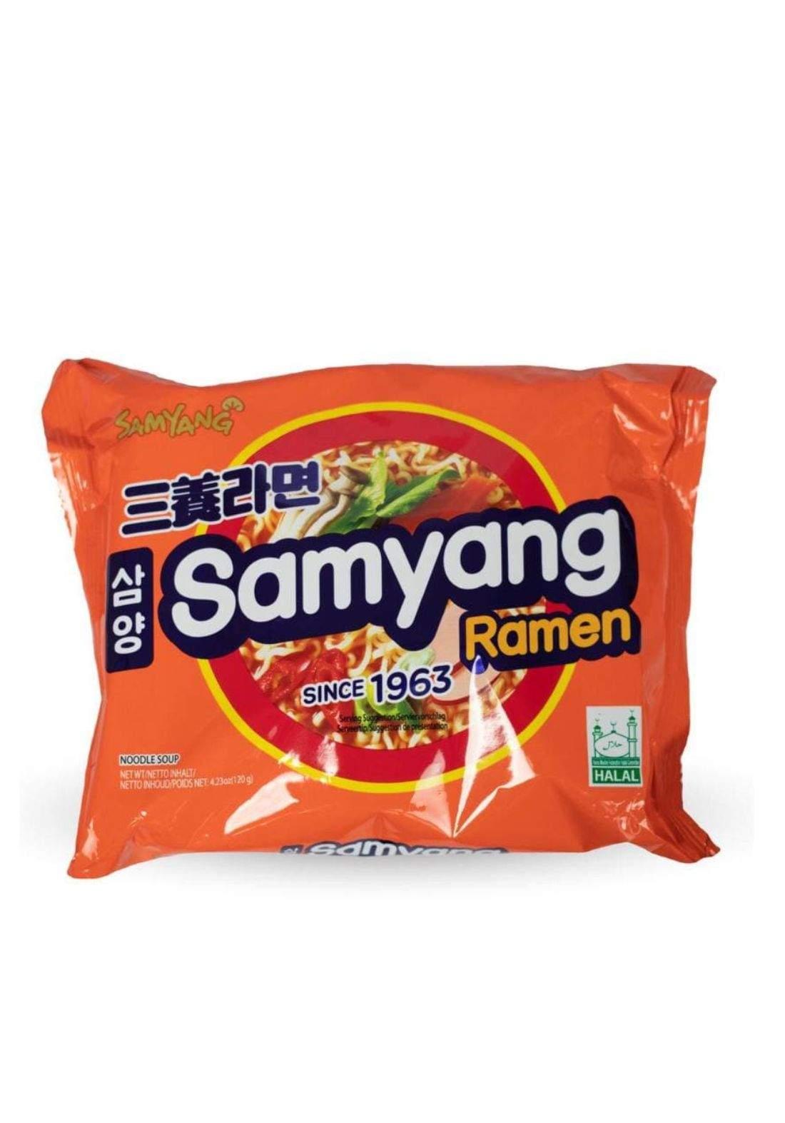Samyang Ramen 120g  X5نوديلز كوري