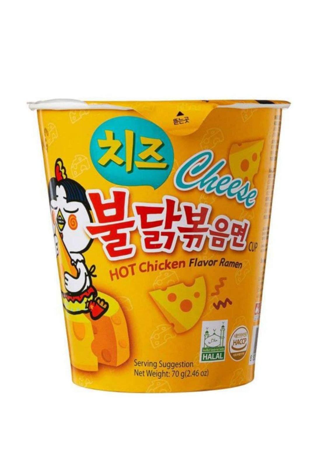 Hot chicken flavor ramen 70g نودلز كوري