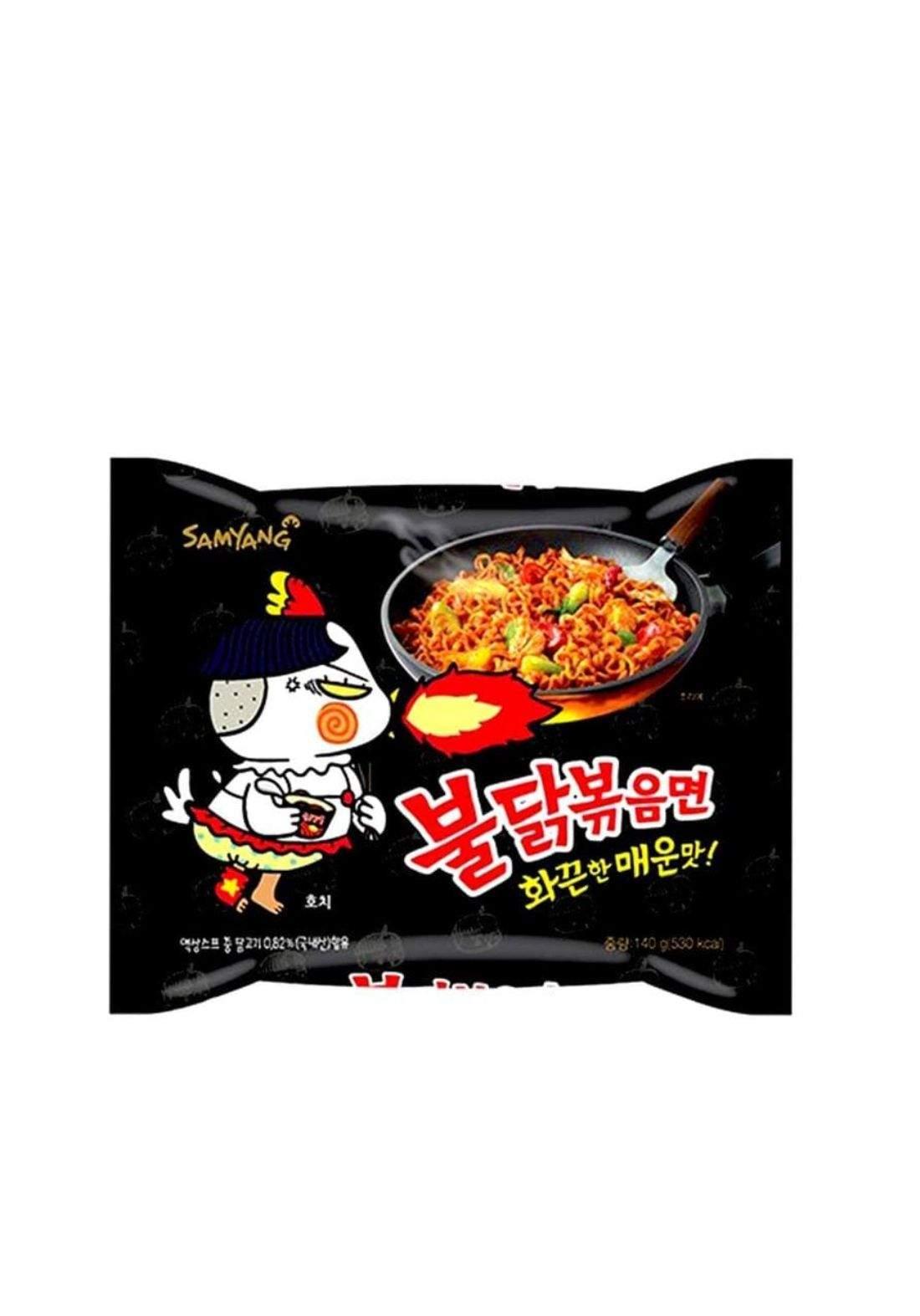 Hot chicken flavor noodle 140g X5 نودلز كوري