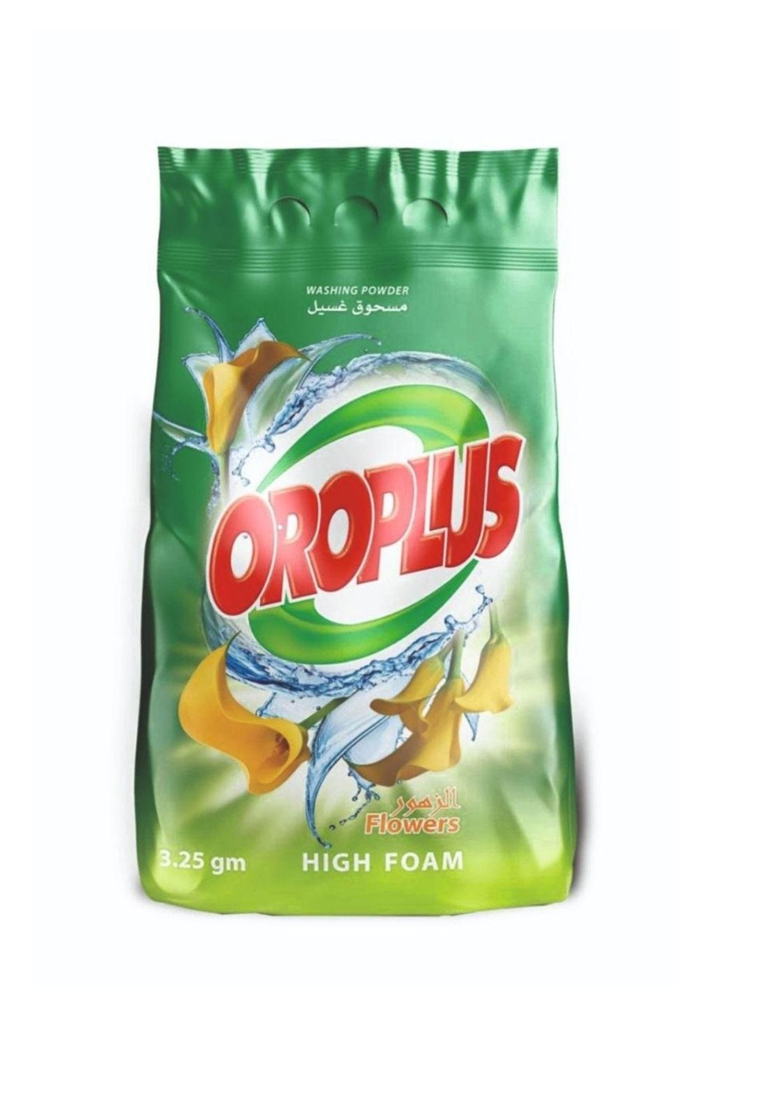 Oroplus washing powder 3.25kg  مسحوق غسيل اوروبلاس اخضر 3.25كغم