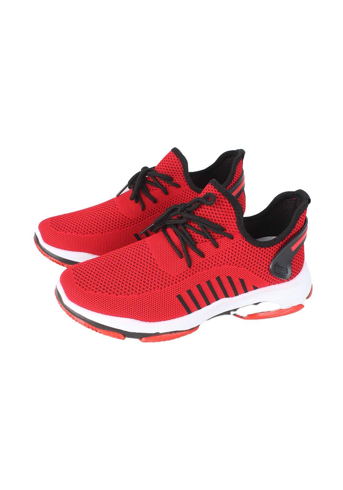 حذاء رجالي  احمر اللون
