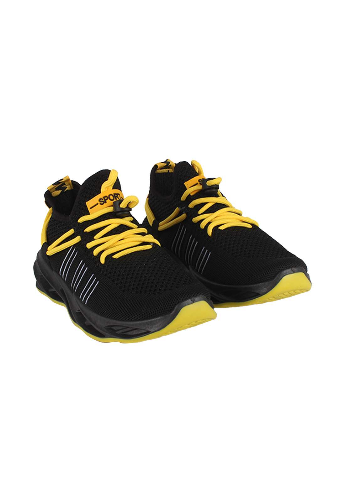 حذاء رياضي رجالي  اسود اللون 085