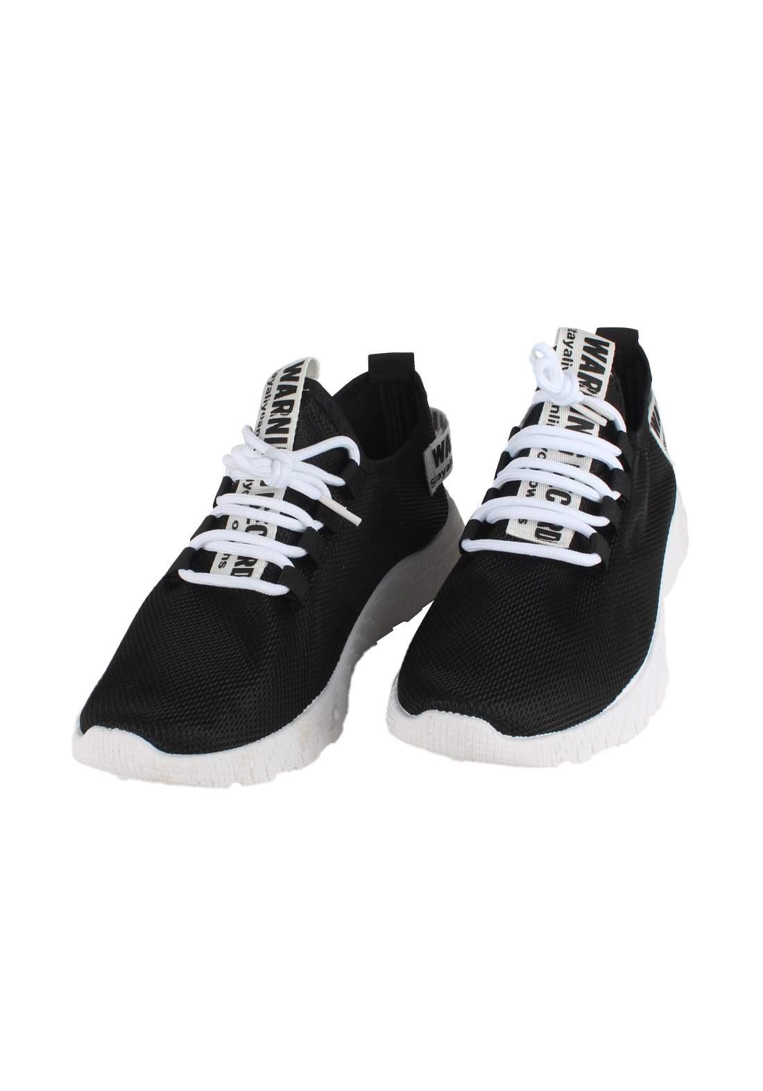 حذاء رياضي رجالي اسود و ابيض اللون 771