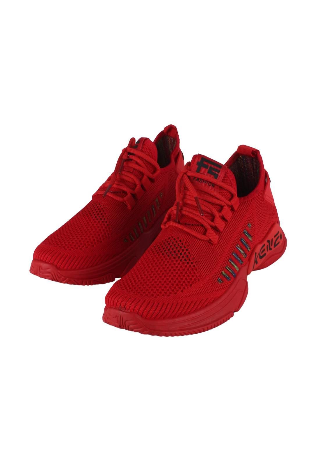 حذاء رجالي احمر اللون  ZM-70