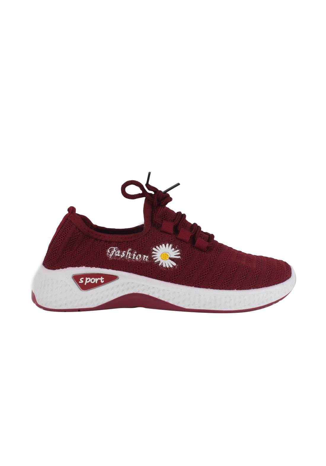 حذاء بناتي رياضي أحمر اللون