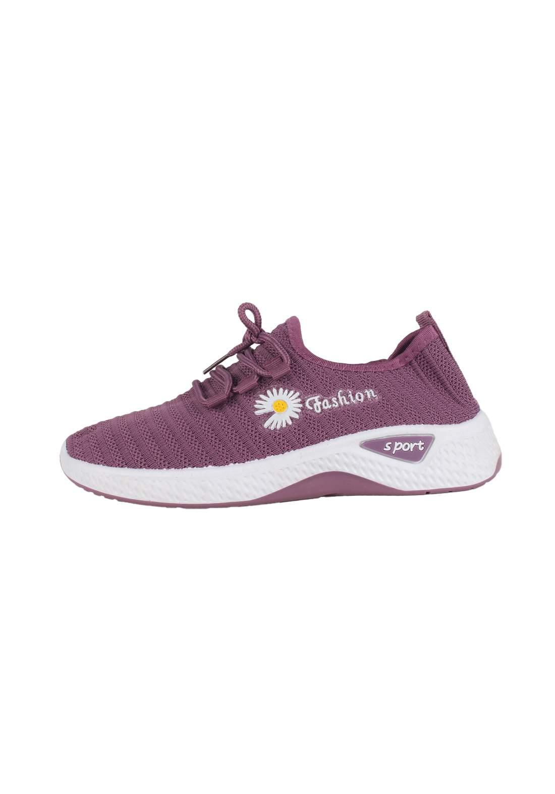 حذاء بناتي رياضي بنفسجي اللون