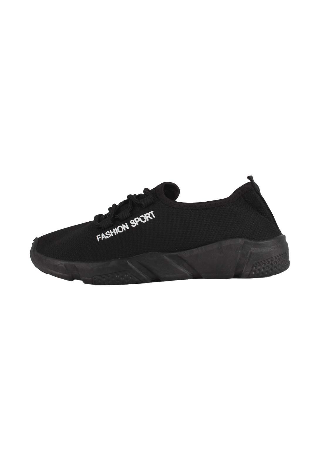 حذاء بناتي رياضي أسود اللون