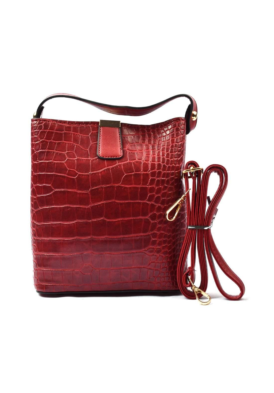 حقيبة نسائي أحمر اللون